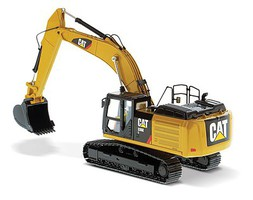 B2B-Replicas Caterpillar 336E H Hybrid Hydraulic Excavator Assembled DM High Line Serie Yellow, Black 1/50 Scale