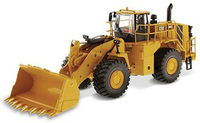 B2B-Replicas Caterpillar 988K Wheel Loader - Assembled _ DM High Line Series Yellow, Black - 1/50 Scale