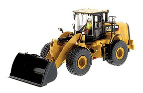 B2B-Replicas Caterpillar 950M Wheel Loader - Assembled - DM High Line Series Yellow, Black - 1/50 Scale