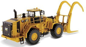 B2B-Replicas Caterpillar 988K Wheel Loader w/Log Grapple Assembled DM High Line Series Yellow, Black 1/50 Scale