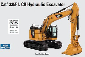 B2B-Replicas Caterpillar 335F L CR Hydraulic Excavator - Assembled - DM High Line Series Yellow, Black - 1/50 Scale