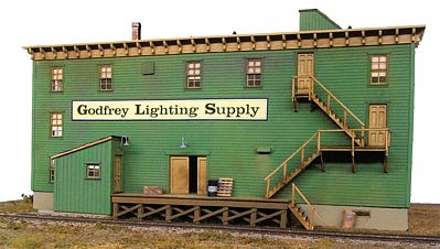 BTS Godfrey Lighting O Scale Model Railroad Building #17000