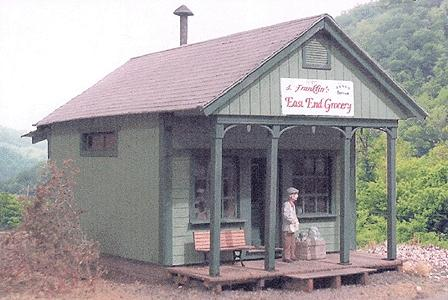 BTS Cabin Creek East End Grocery O Scale Model Railroad Building #17226