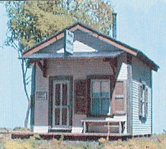 BTS Cabin Creek Post Office - Kit O Scale Model Railroad Building #17233