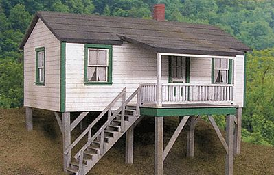 BTS Cabin Creek Company House - Kit (Laser-Cut Wood) O Scale Model Railroad Building #17237