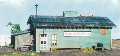 BTS Cabin Creek Series - Willets Supply Company O Scale Model Railroad Building #17435