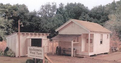 BTS Anderson Pulpwood Yard O Scale Model Railroad Building #17480