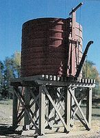 BTS 20,000-Gallon Open-Top Water Tower Kit O Scale Model Railroad Building #17489
