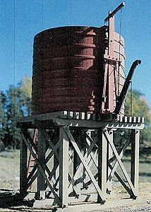 B.T.S. 20,000-Gallon Open-Top Water Tower Kit -- O Scale Model Railroad Building -- #17490
