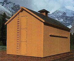 BTS Great Northern Ice House - Kit (Laser-Cut Wood & Card) O Scale Model Railroad Building #17550