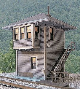 BTS Chesapeake & Ohio MD Cabin (Interlocking Tower) - Kit O Scale Model Railroad Building #17650