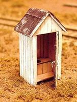 BTS One Holer Outhouse Kit HO Scale Model Railroad Building #23005