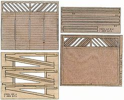 BTS Lattice-Base Wood Billboard - Kit McCabe Lumber HO Scale Model Railroad Scenery #23026