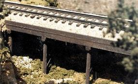 BTS Atlantic Coast Line 50 Ballast Deck Trestle HO Scale Model Railroad Bridge #27103