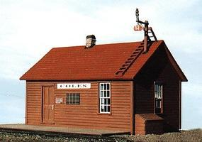 BTS East Broad Top Coles Station - 3-1/2 x 4-1/8 HO Scale Model Railroad Building #27124