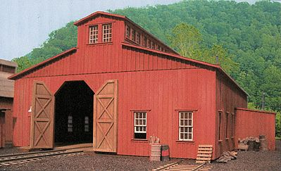 B.T.S. Machine Shop - Standard Gauge Kit -- HO Scale Model Railroad Building -- #27488