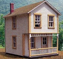 BTS 114 Second Street - 17 x 21 5.2 x 6.4m Scale HO Scale Model Railroad Building #27702