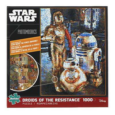 Buffalo Games Photomosaic Star Wars Droids of the Resistance -- Jigsaw Puzzle 600-1000 Piece -- #10615