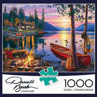 Buffalo-Games Canoe Lake 1000pcs Jigsaw Puzzle 600-1000 Piece #11240