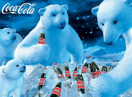 Buffalo-Games Coca-Cola- Polar Bears (Christmas) Collage Puzzle (1000pc)