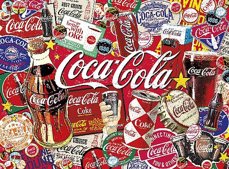 Buffalo-Games Coca-Cola- Its All Good (Signs/ Cans/Bottles) Collage Puzzle (1000pc)