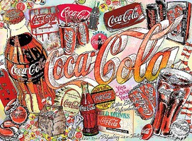 Buffalo-Games Coca-Cola- Enjoy Coca-Cola Collage Puzzle (1000pc)