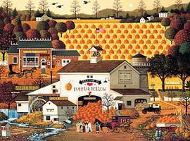 Buffalo-Games Pumpkin Hollow 1000pcs Jigsaw Puzzle 600-1000 Piece #11421