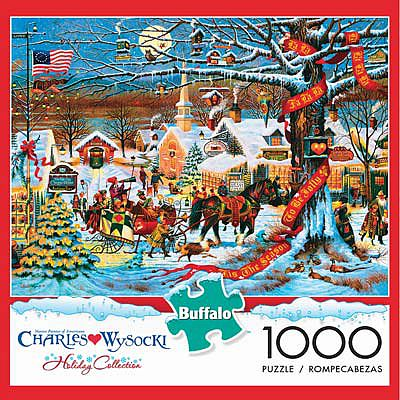 Buffalo Games Small Town Christmas 1000pcs -- Jigsaw Puzzle 600-1000 Piece -- #11425