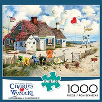 Buffalo-Games Charles Wysocki- Root Beer Break at the Butterfields Puzzle (Cottage, Beach, Kites) (1000pc)