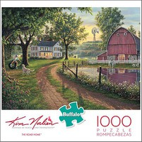 Buffalo-Games Kim Norlien- The Road Home Puzzle (Country Home, Barn, Sunset Scene) (1000pc)