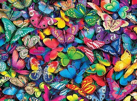 Buffalo-Games Vivid Collection- Butterflies Collage Puzzle (1000pc)