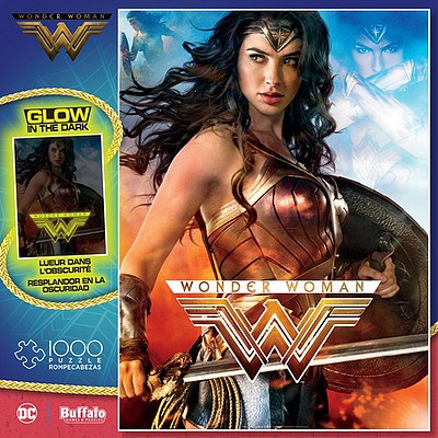 Buffalo-Games Wonder Woman Glow-in-the-Dark Puzzle (1000pc)