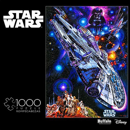 Buffalo-Games Star Wars Millennium Falcon- Youre All Clear Kid Collage Puzzle (1000pc)