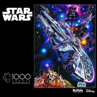 Buffalo-Games Star Wars Millennium Falcon- You're All Clear Kid Collage Puzzle (1000pc)