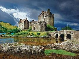 Buffalo-Games Eilean Donan Castle Scotland 750pcs Jigsaw Puzzle 600-1000 Piece #17056