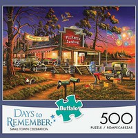 Buffalo-Games Small Town Celebration 500pcs Jigsaw Puzzle 0-599 Piece #3690