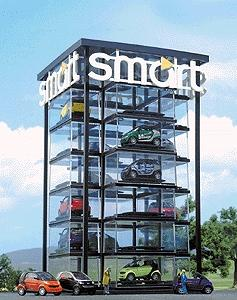 Busch Smart Car Tower Kit HO Scale Model Railroad Building #1001