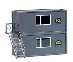 Busch Container Set - Mine Security HO Scale Model Railroad Building #1032