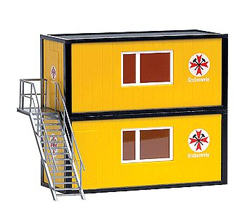 Busch Gmbh Container Set - Mine Rescue -- HO Scale Model Railroad Building -- #1033