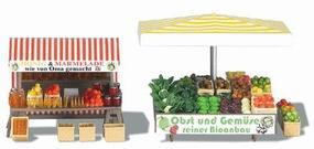Busch Honey, Jam & Vegetable Stand - Kit HO Scale Model Railroad Building #1071