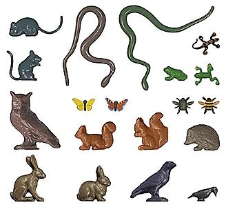 Busch Small Animal Set - pkg(8) HO Scale Model Railroad Figure #1153