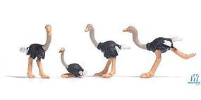 Busch Ostriches (4) HO Scale Model Railroad Figure #1194