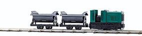 Busch Feldbahn Industrial Diesel Set HO Scale Model Train Set #12000