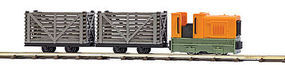 Busch Starter Set with 2 Transport Wagons HO Scale Model Train Set #12008