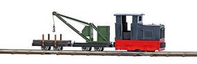 Busch Feldbahn - LKM Ns 2f Loco, Crane & Flatcar HO Scale Model Train Set #12118