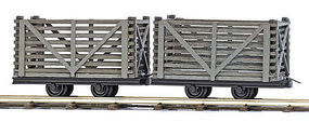 Busch Wood Peat Transport Wagon (2) HO Scale Model Train Freight Car #12214