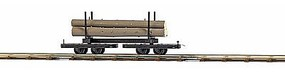 Busch Bogies with Tree Trunks HO Scale Model Train Freight Car #12222