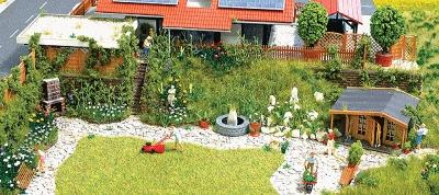 Busch Gmbh Flower Garden - Kit -- HO Scale Model Railroad Building Accessory -- #1226