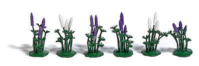 Busch Wild Lupines (18) HO Scale Model Railroad Grass Earth #1245