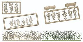 Busch Late Summer Undergrowth - Kit (Plastic) - Kit HO Scale Model Railroad Grass Earth #1260